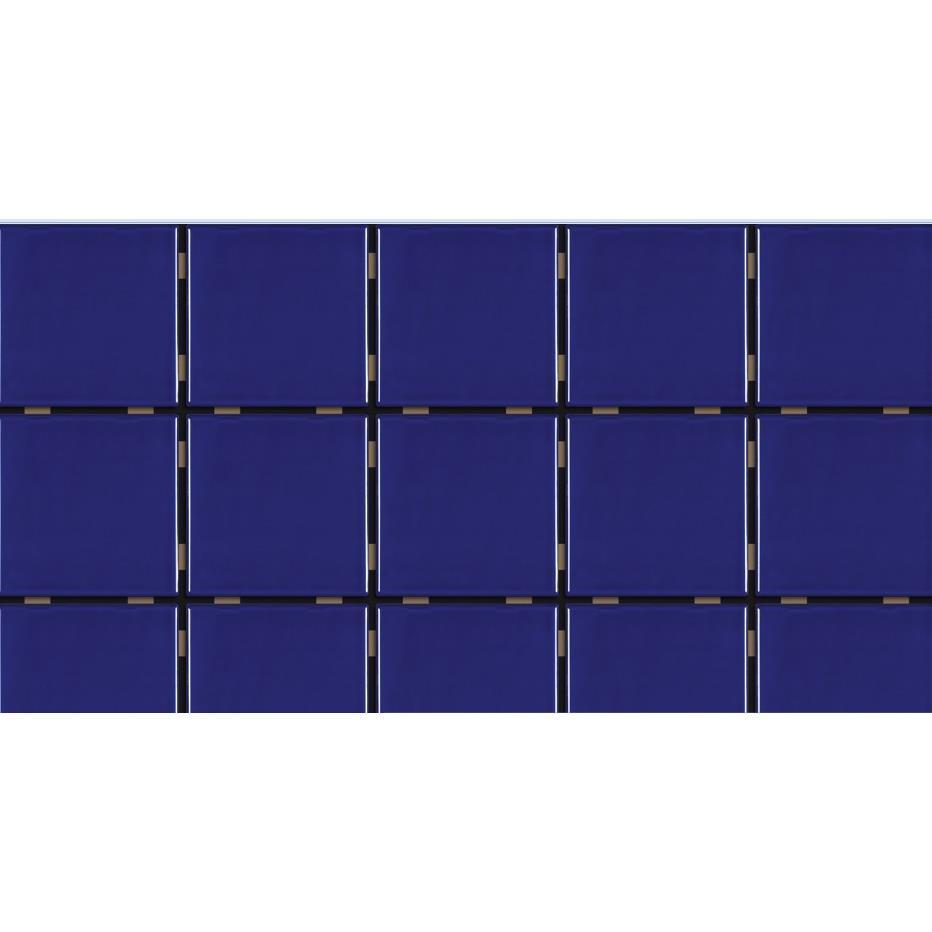 Revestimento de Parede Brilhante 159m 75x75cm Azul Naval Mesh - Eliane