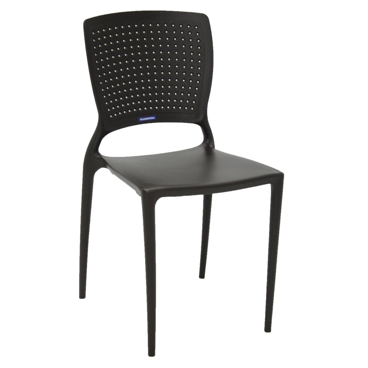 Cadeira Safira Polipropileno e Fibra de Vidro Marrom - Tramontina