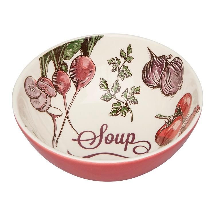 Tigela Funda de Ceramica Soup Redonda 600ml Branco - Oxford