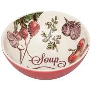 Tigela Funda de Cerâmica Soup Redonda 600ml Branco - Oxford