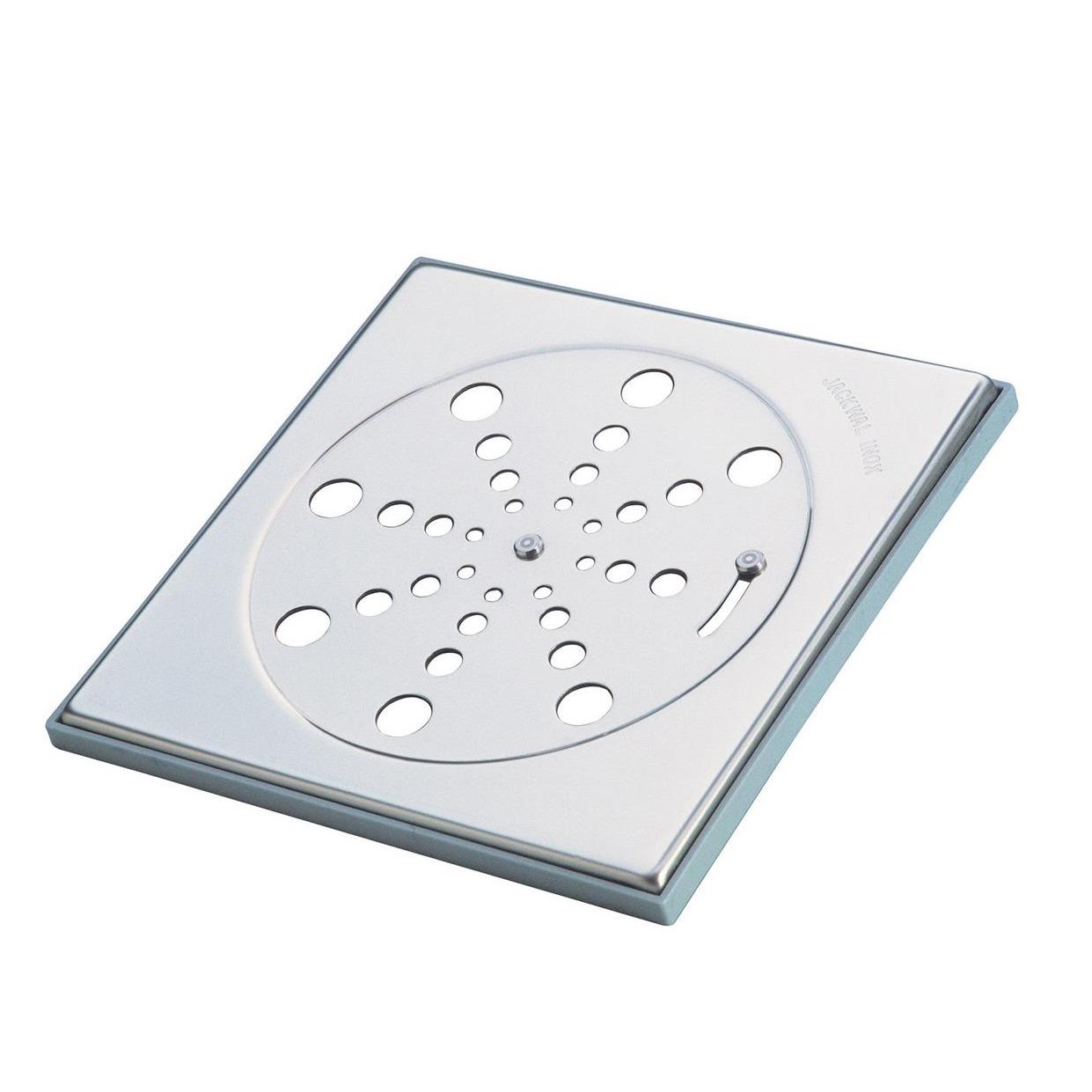 Grelha de Inox Quadrada para Esgoto Fecho 10cm 002924 - Jackwal