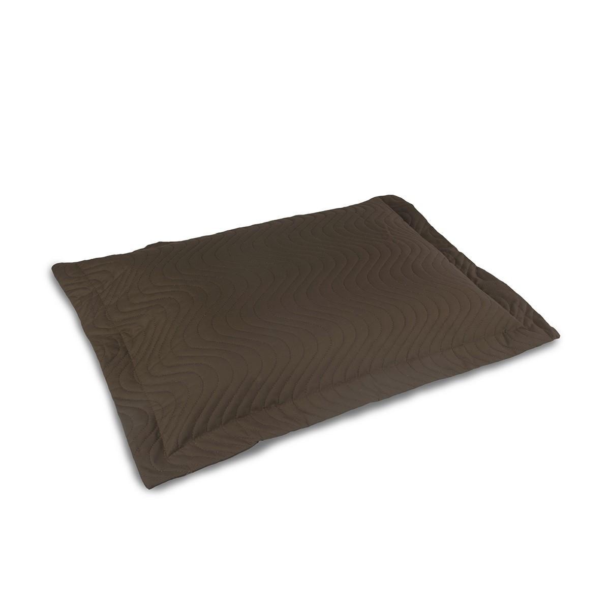 Porta Travesseiro Matelassado Percal 180 Fios Tabaco - Juma