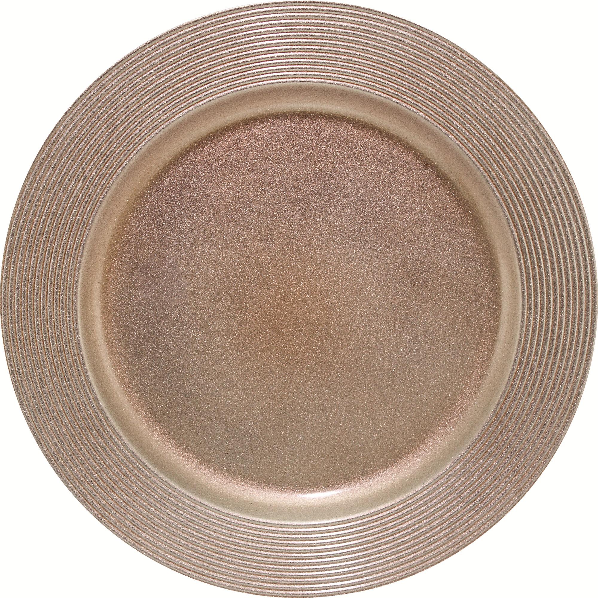 Sousplat Redondo Plastico 33cm Bronze - Mimo Style