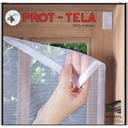 Tela Mosquiteiro Protetor 125x205cm Branco - Branyl