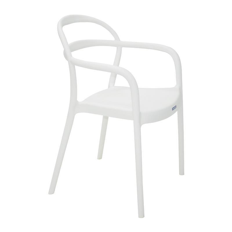 Cadeira com Apoio de Braco Sissi de Plastico Branco - Tramontina