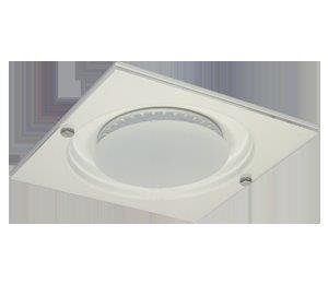 Luminaria Quadrada Embutir Aluminio E Acrilico Branca Evolution RABICHO 110220V 3 - Bonin