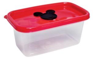 Pote Plastico Hermetico Retangular 380ml - Mickey - Plasutil