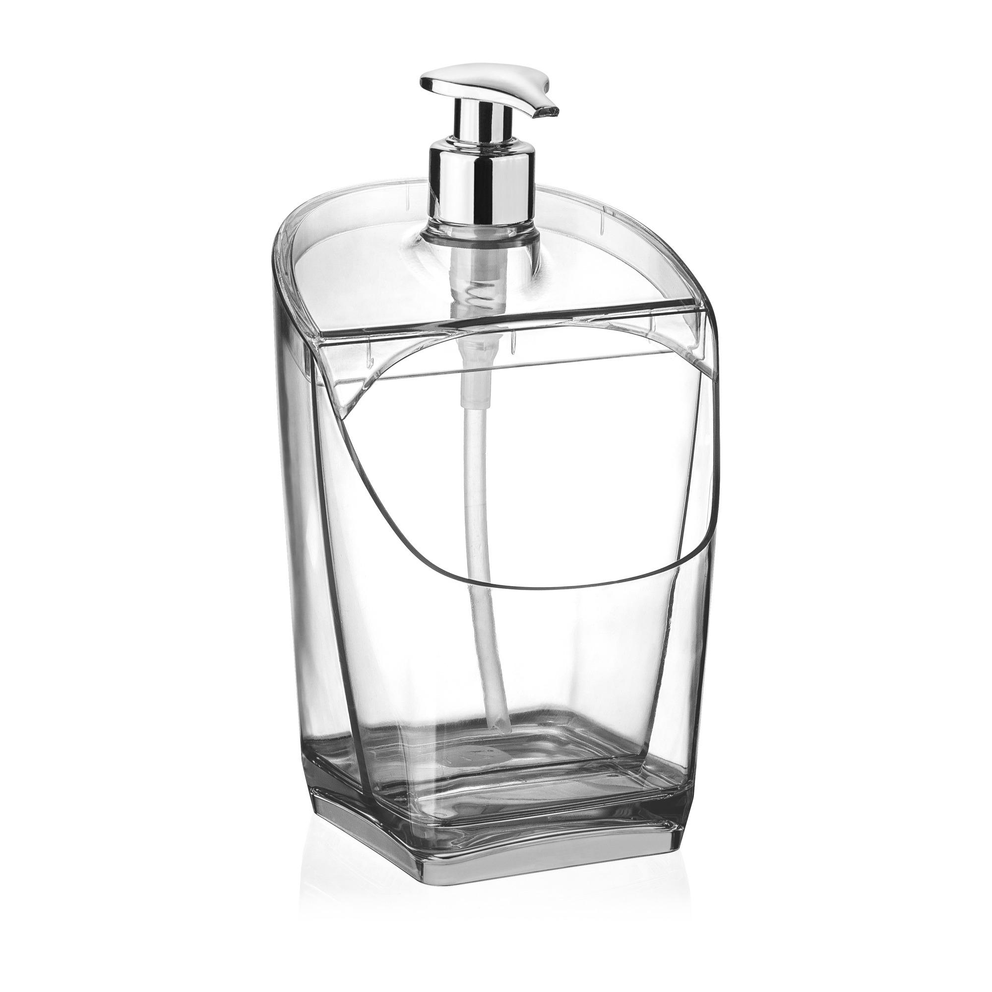 Dispenser com Suporte para Esponja de Plastico 500ml Transparente - UZ354 - Uz