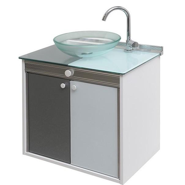 Gabinete para Banheiro Cris Duo 625x67cm 902 - Crismetal