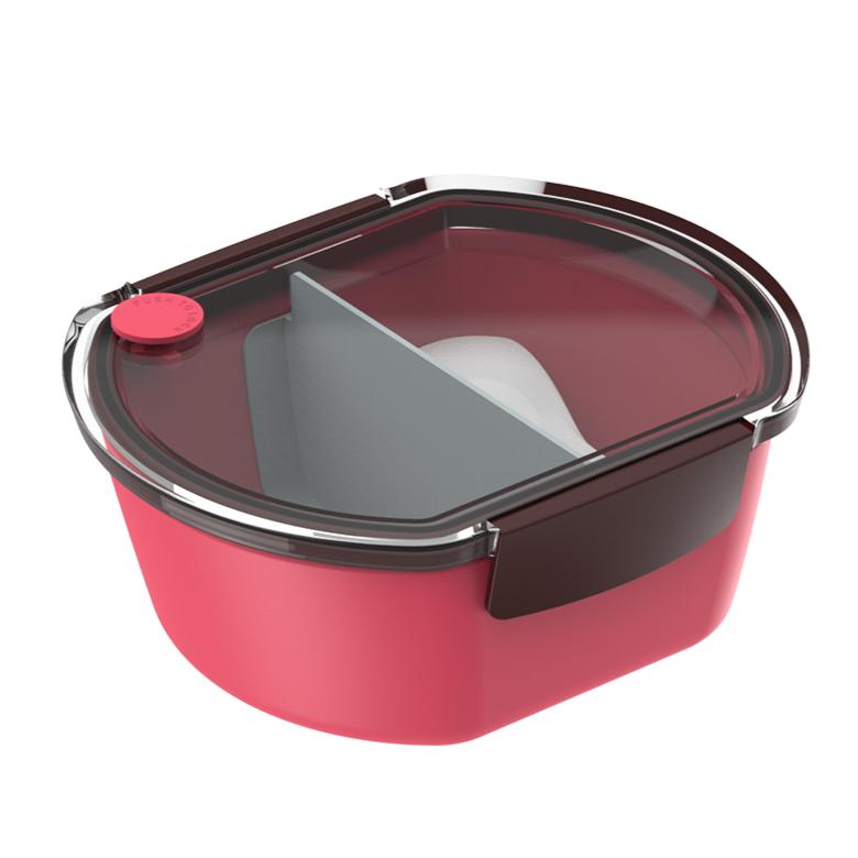 Marmita de Plastico Oval 1 Peca 1 Divisoria Vermelho - Soprano