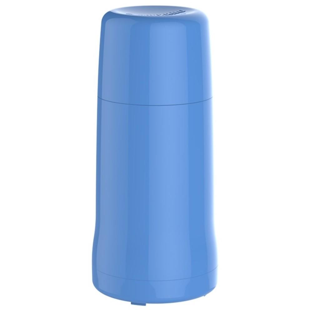 Garrafa Termica de Plastico Rosca 250ml Azul - Soprano