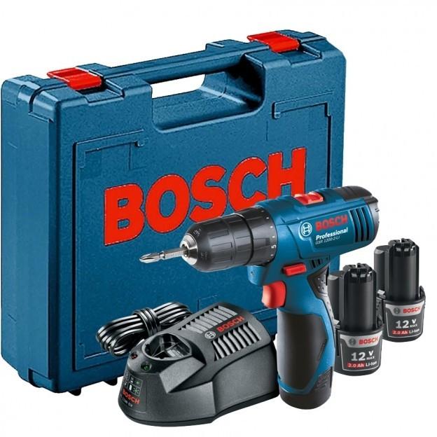 Furadeira e Parafusadeira a Bateria 12V com Impacto Reversivel 220V - GSB1200 - Bosch