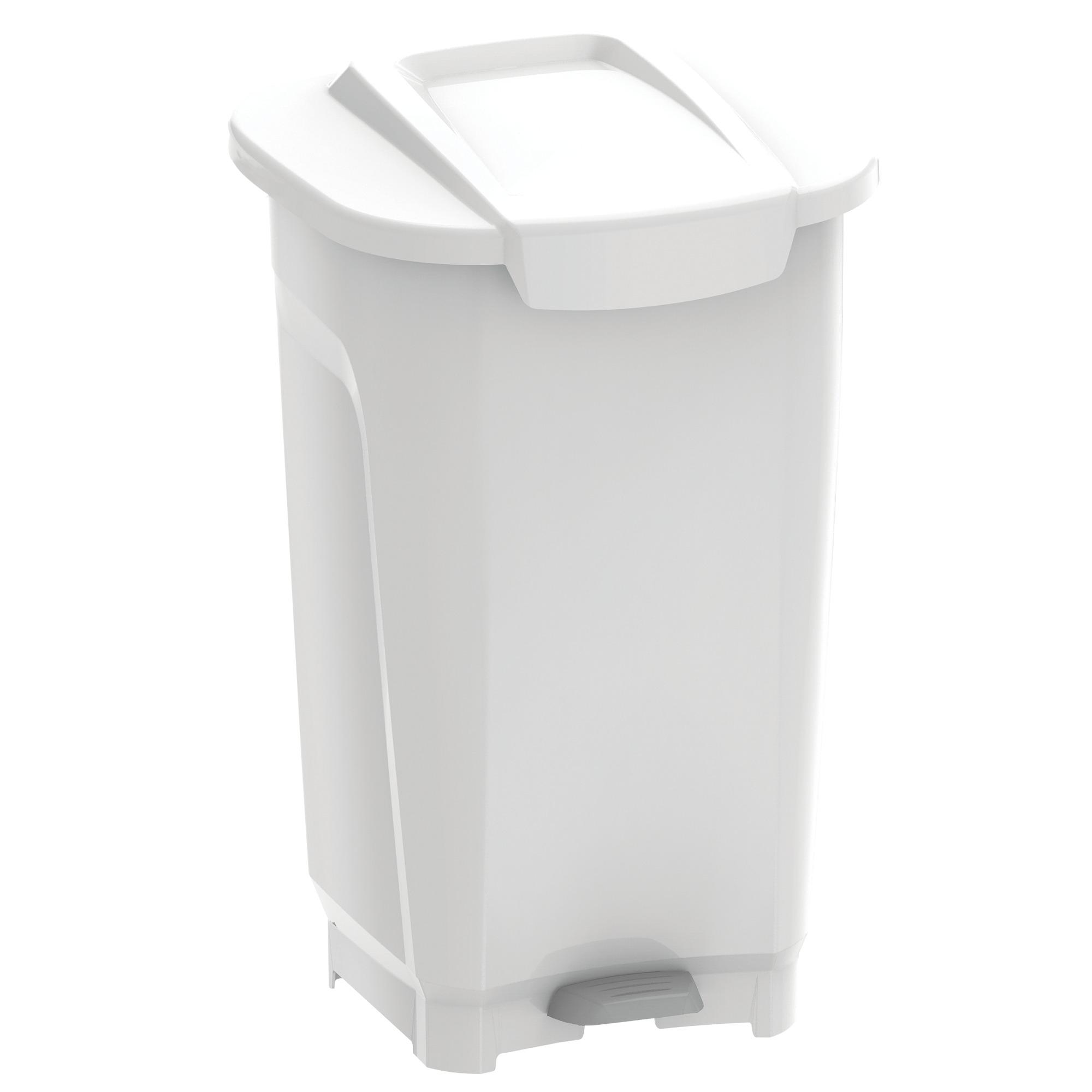 Lixeira de Plastico com Pedal 50L Branca - Tramontina