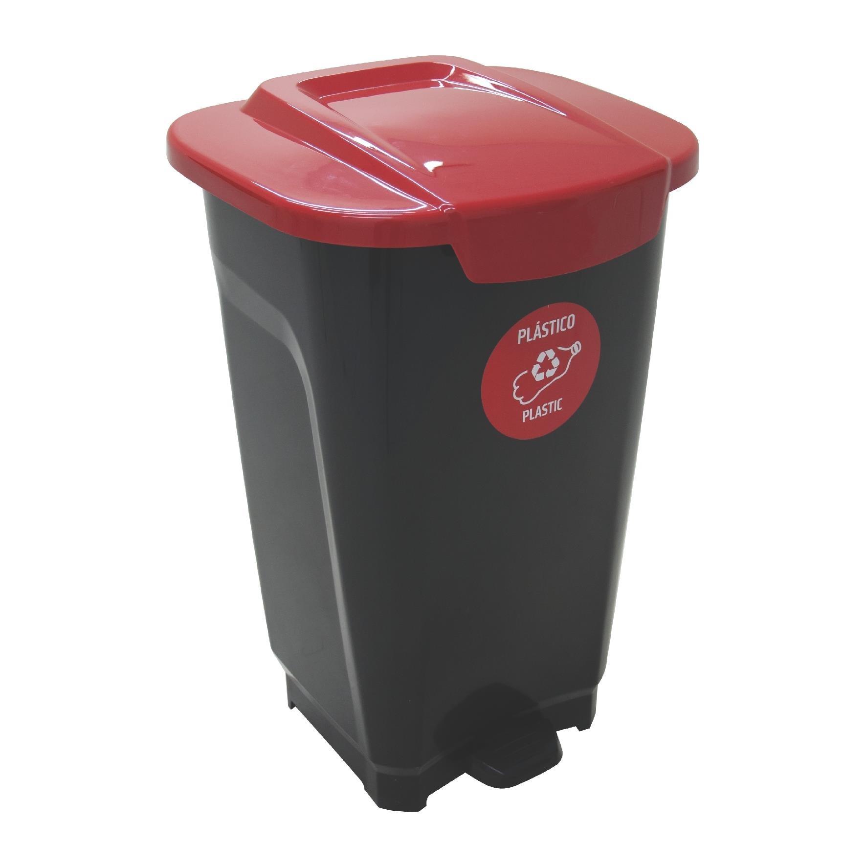 Lixeira de Plastico com Pedal 50L Vermelha - Tramontina