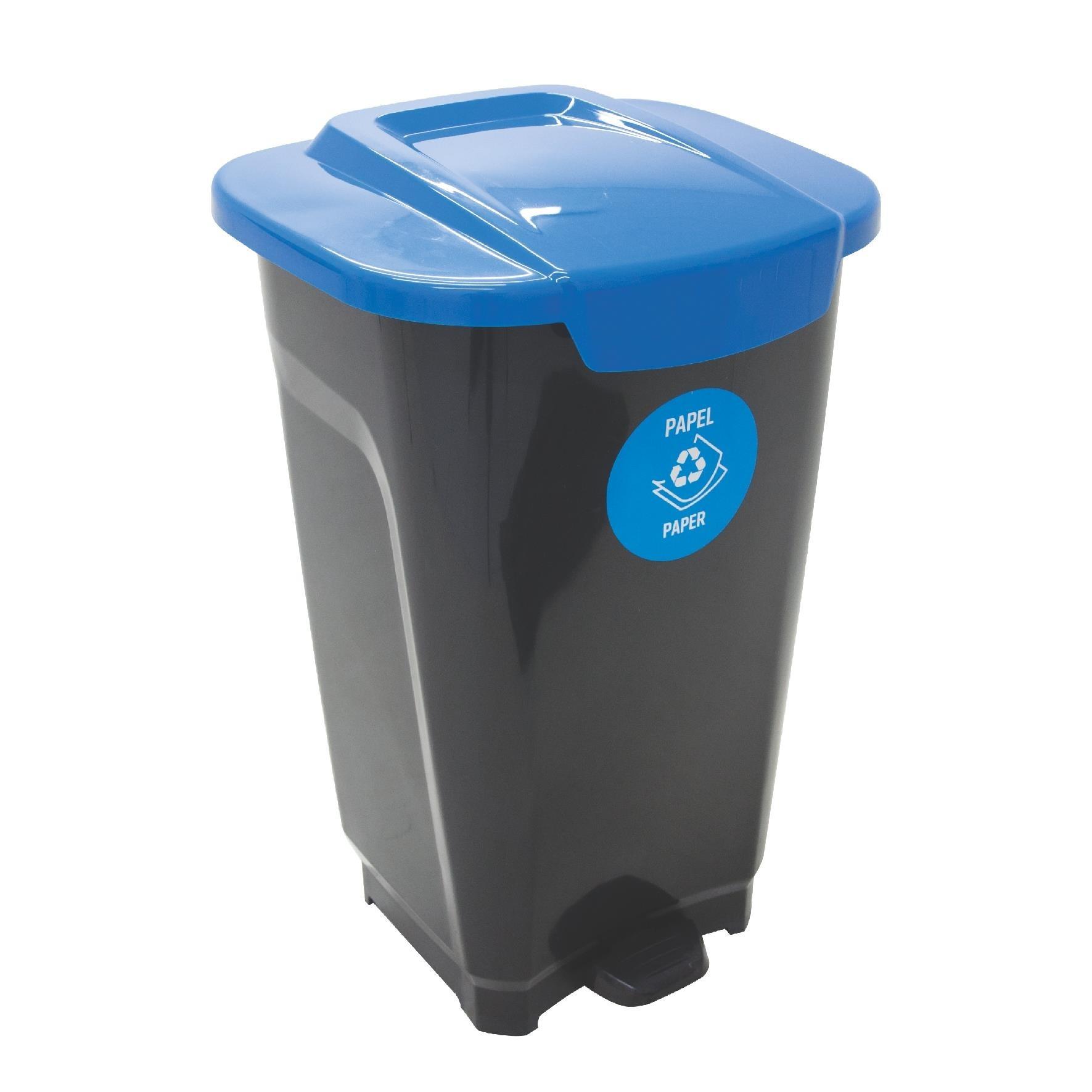 Lixeira de Plastico com Pedal 50L Azul - Tramontina