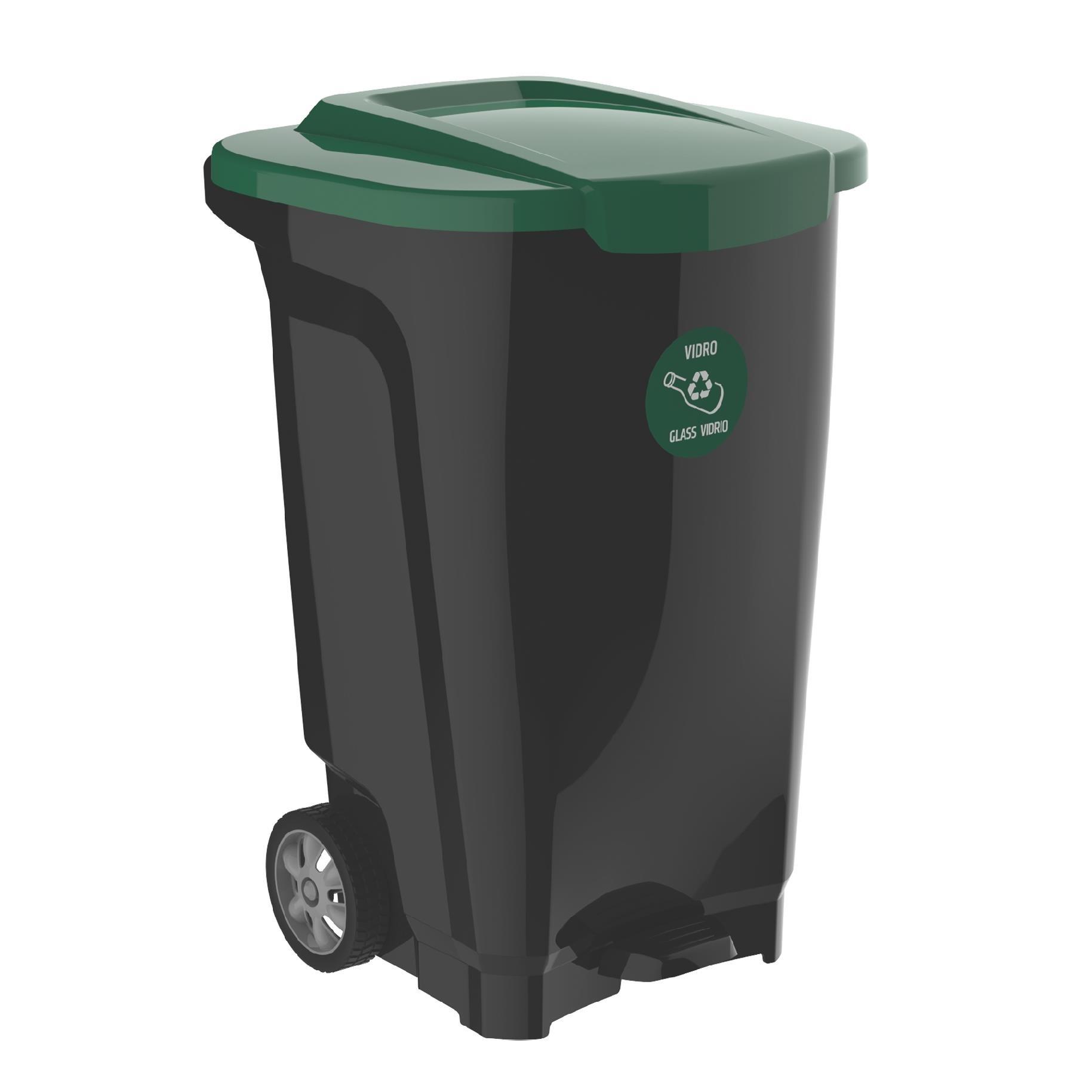 Lixeira de Plastico com Pedal 100L Verde - Tramontina