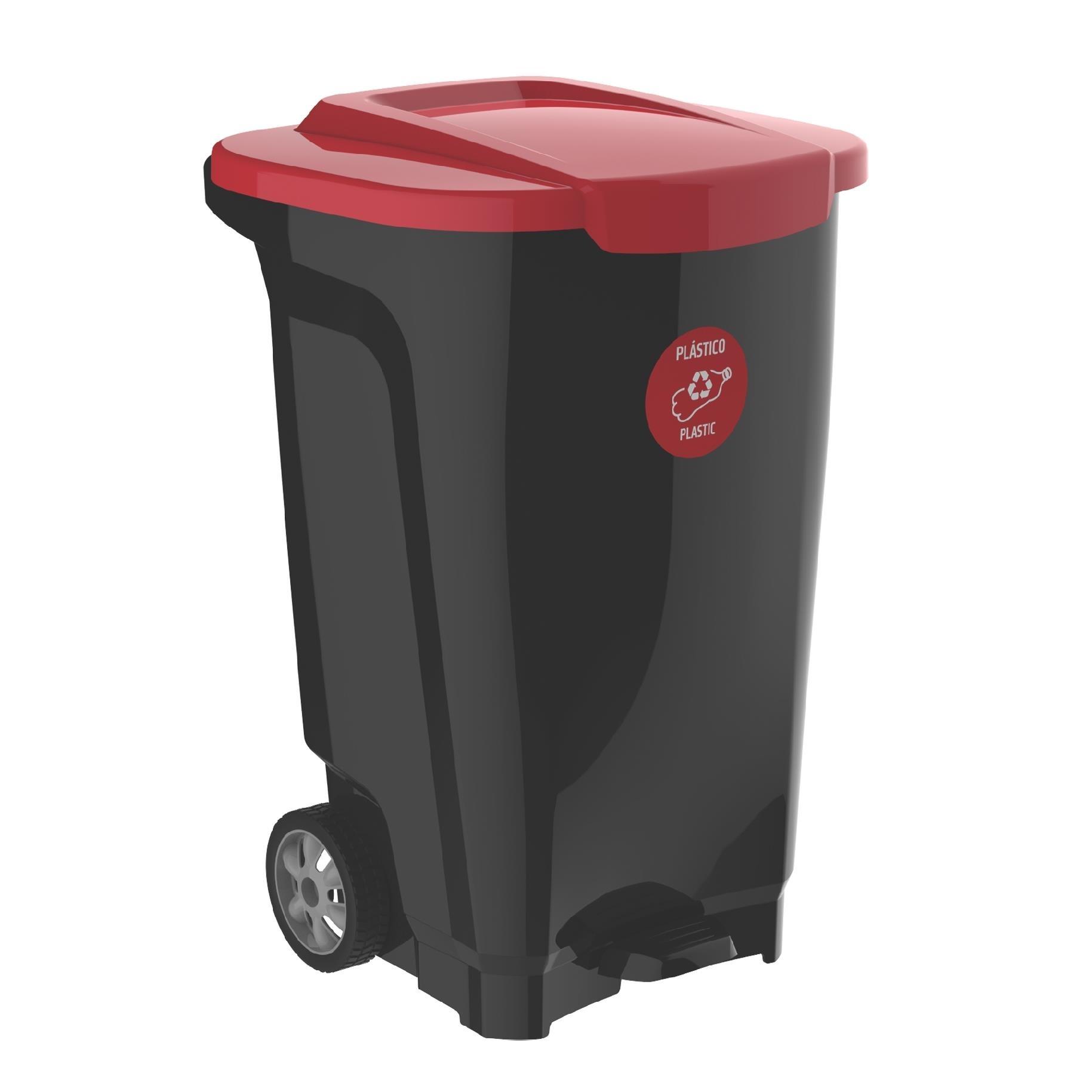 Lixeira de Plastico com Pedal 100L Vermelha - Tramontina