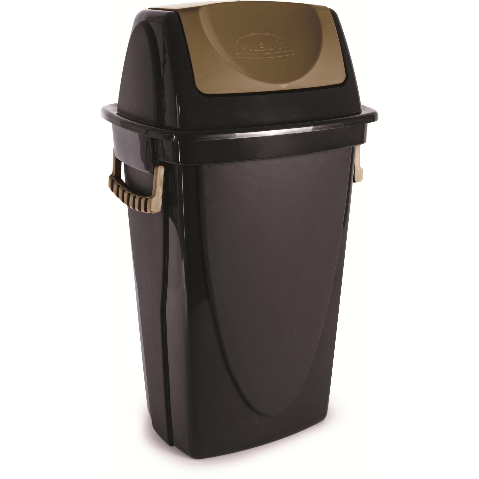 Lixeira Basculante de Plastico 580L Ecoblack 3475 - Plasutil