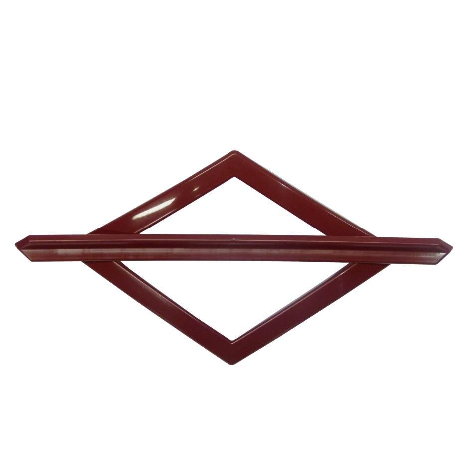 Fivela Decorativa para Cortina Losango Vermelho 2 Pecas - Bella Arte