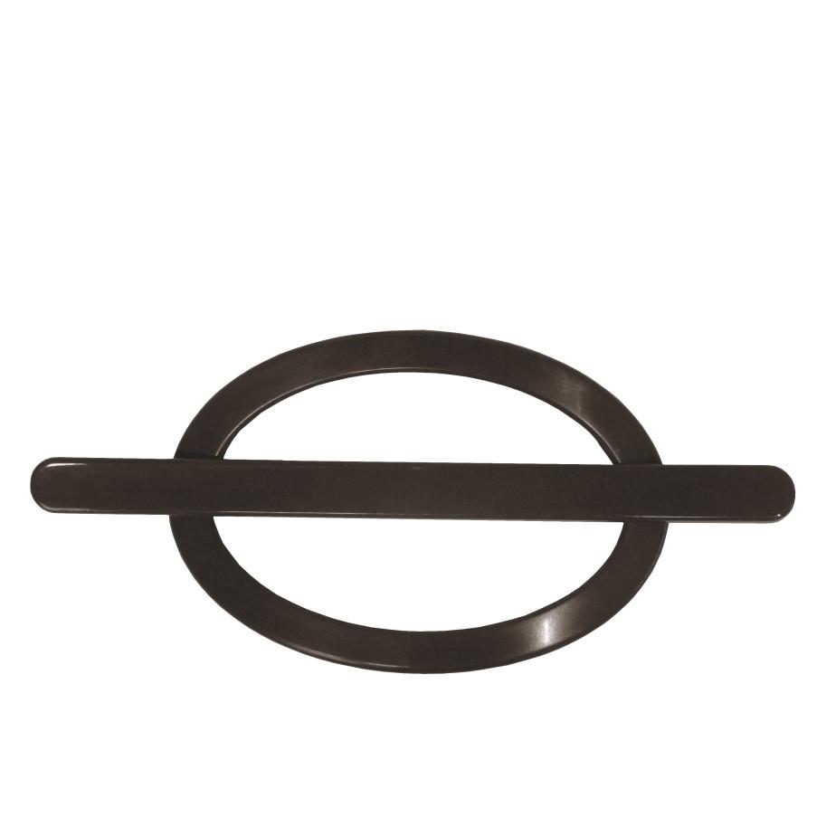 Fivela Decorativa para Cortina Oval Imbuia 2 Pecas - Bella Arte