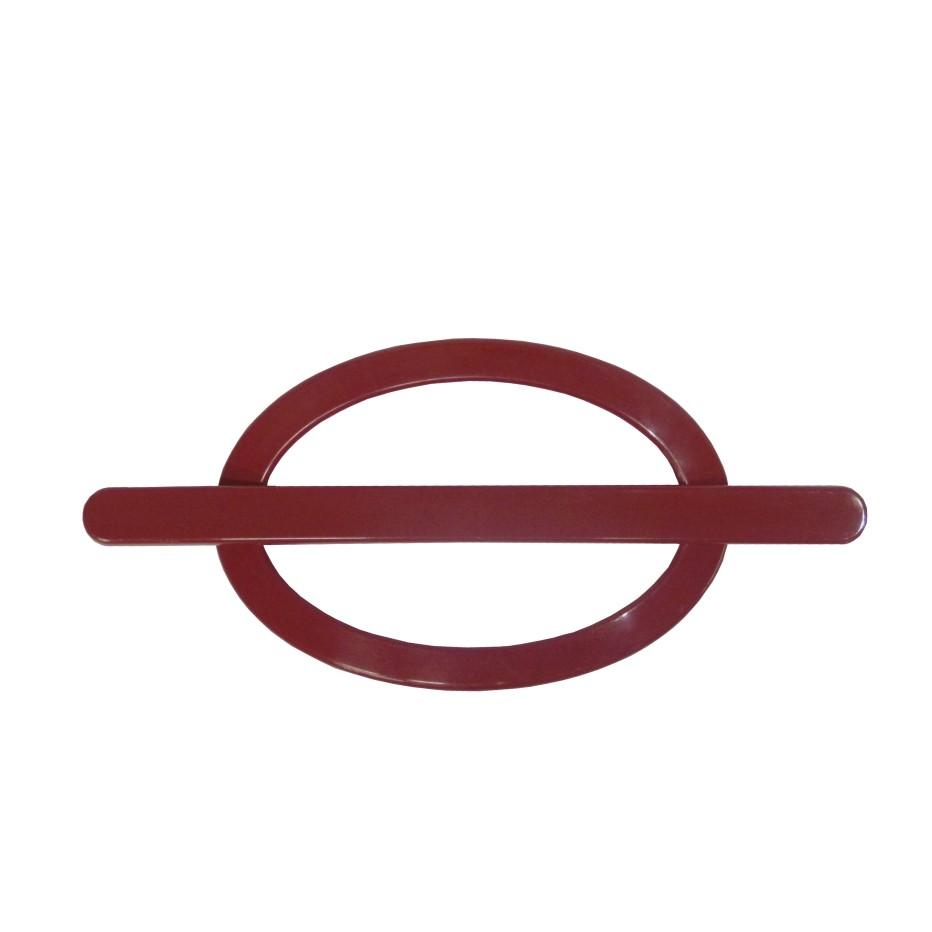 Fivela Decorativa para Cortina Oval Vermelho 2 Pecas - Bella Arte