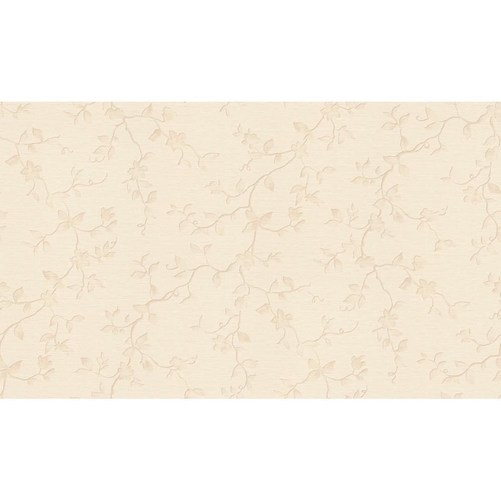 Papel de Parede Vinilico Texturizado Folhas Bege 36622 - Jolie
