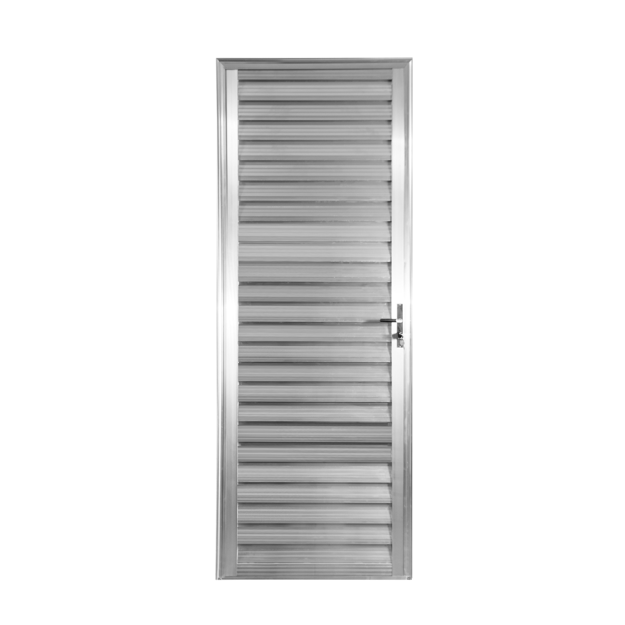 Porta de Abrir de Aluminio 210cm x 80cm Veneziana Lado Esquerdo - Aluvid