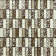 Pastilha de Vidro Craquelada 1,5x4,8cm Marrom Escuro - MC002E - Jolie