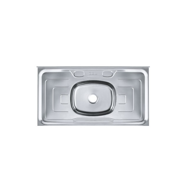 Pia Simples de Aco Inox Brilho 53cm x 100cm Prata - 14621 - Franke