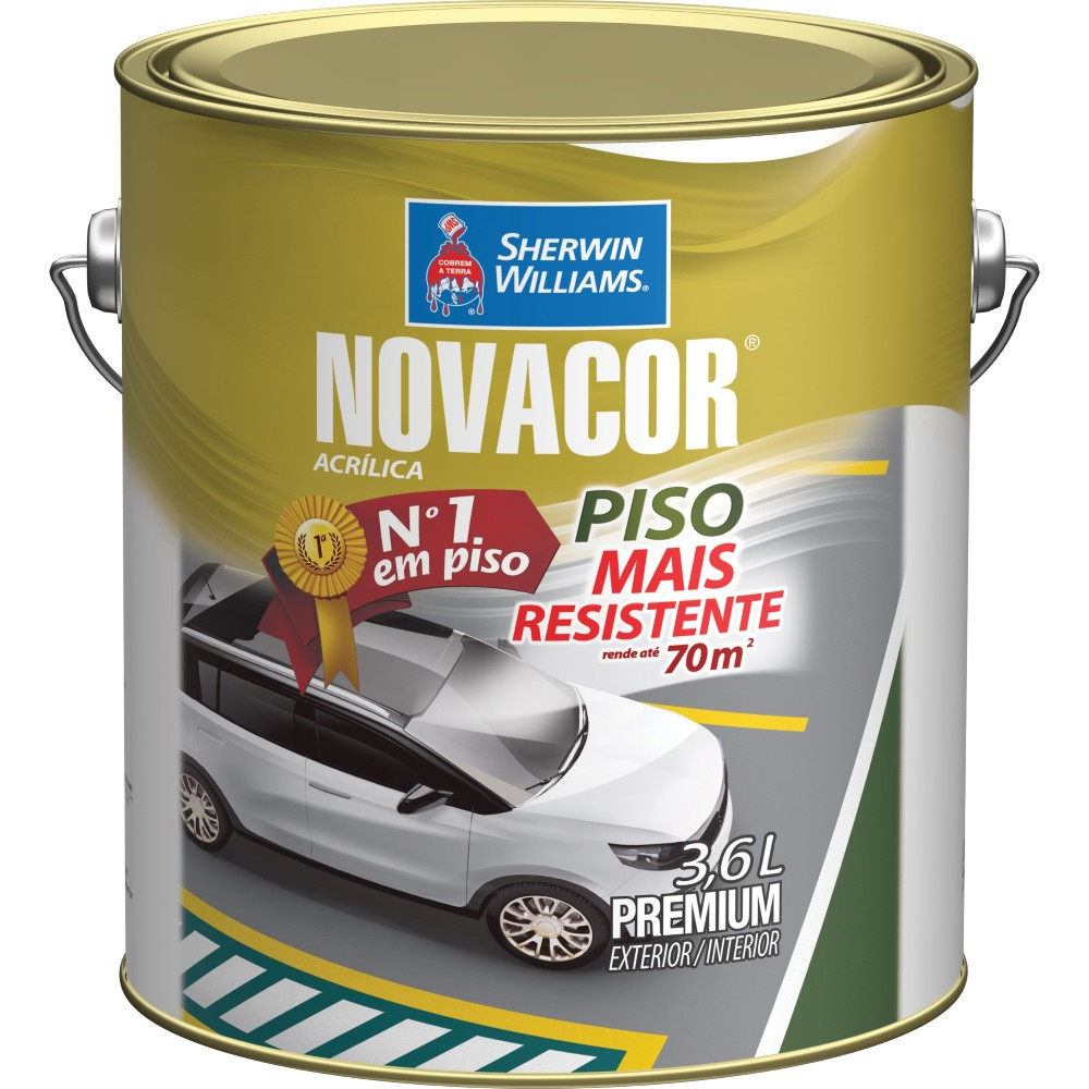 Tinta Acrilica Fosco Premium 36L - Amarelo - Novacor Sherwin Willians