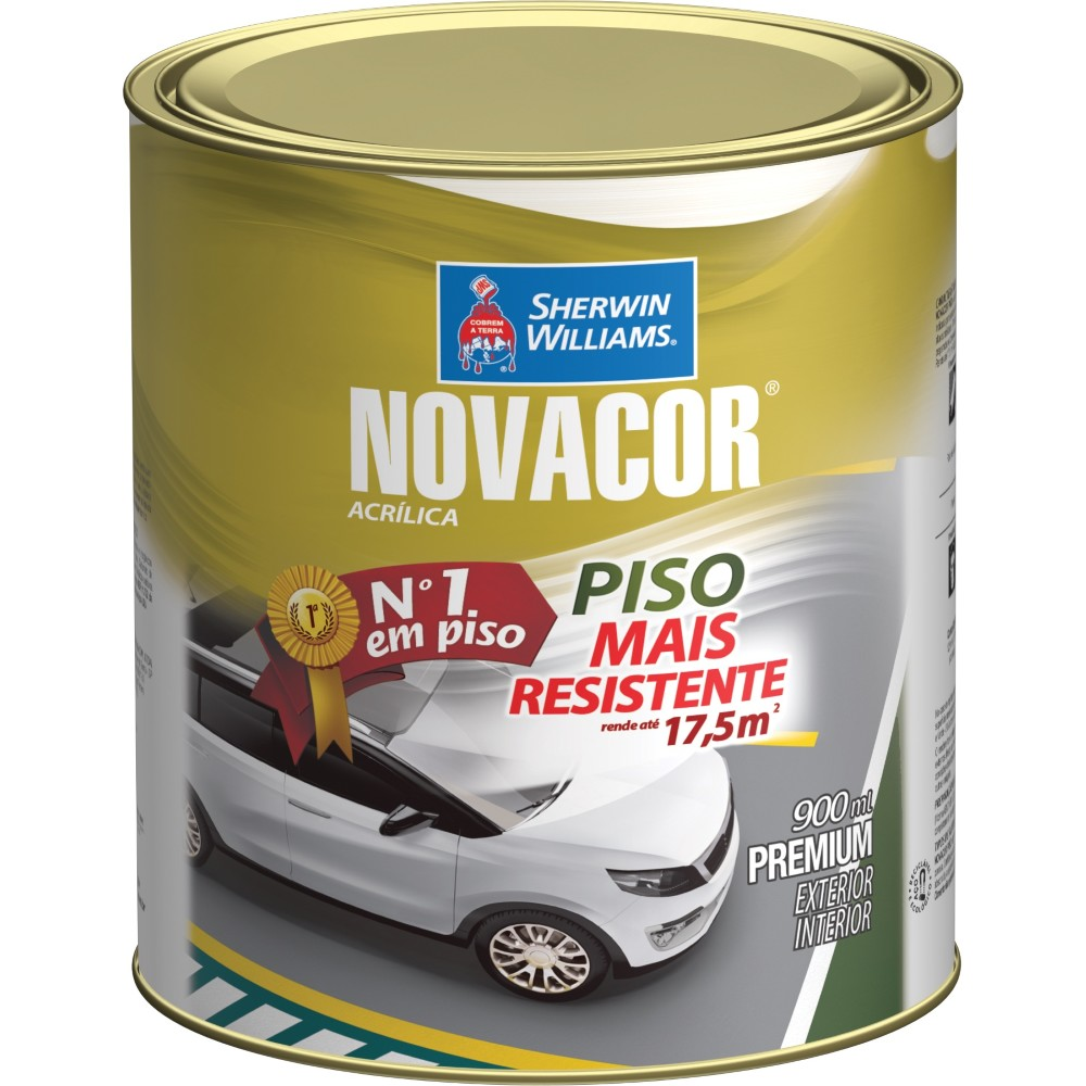 Tinta Acrilica Fosco Premium 09L - Vermelho - Novacor Sherwin Willians
