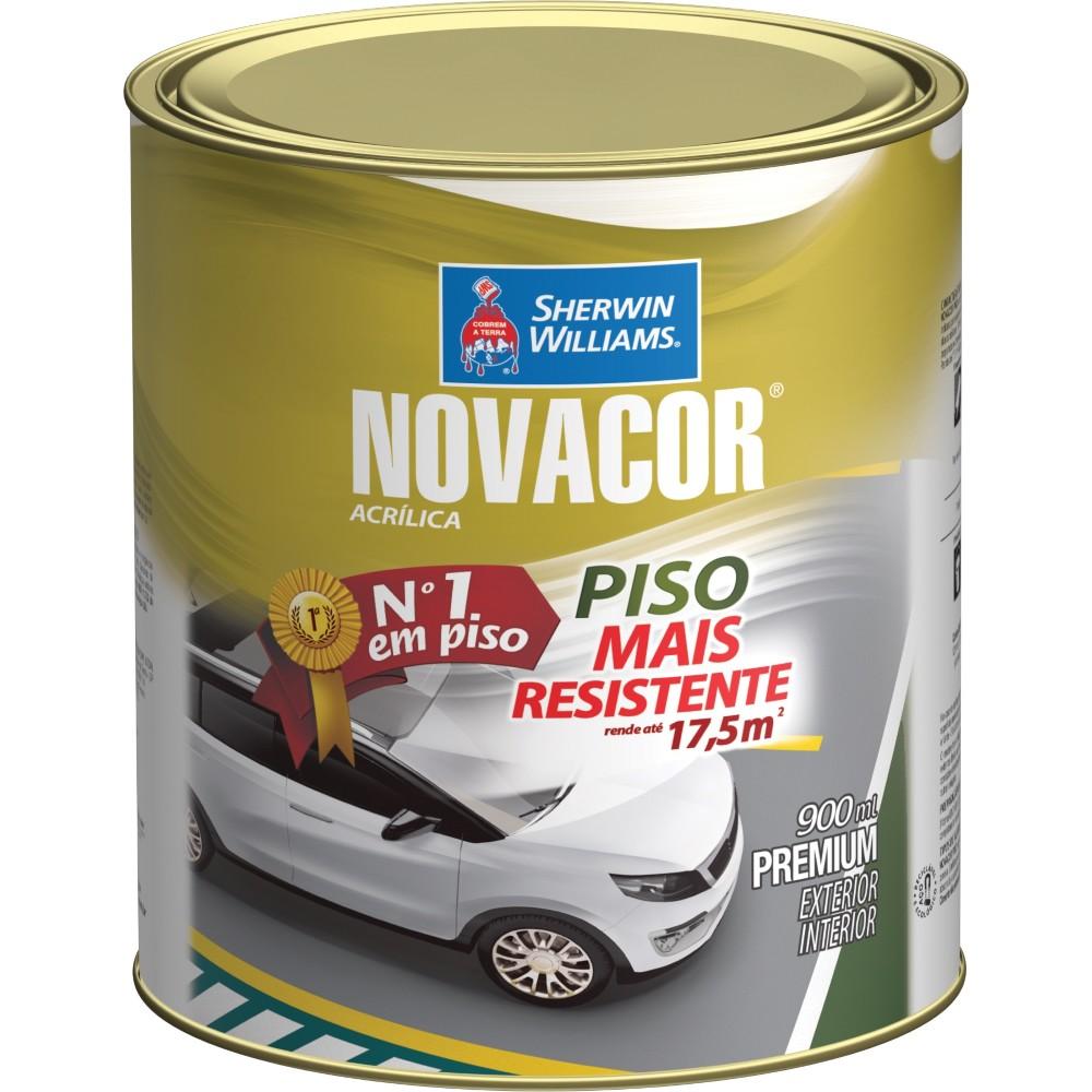 Tinta Acrilica Fosco Premium 09L - Vermelho Seguranca - Novacor Sherwin Willians