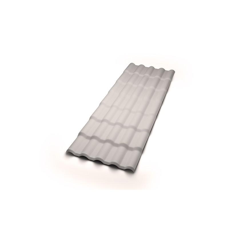 Telha de PVC Colonial 2mm 86x230cm Cinza - Precon