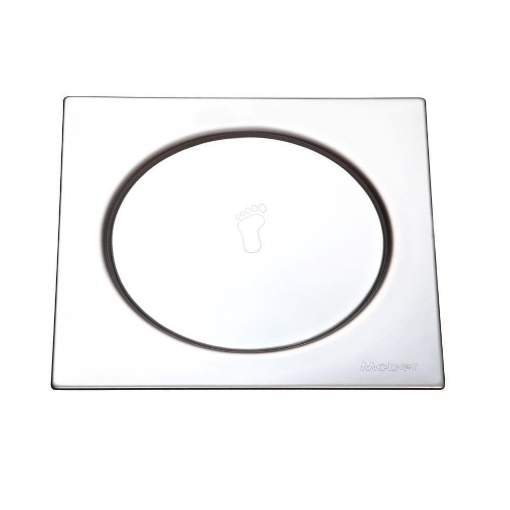Grelha de Inox Quadrada para Esgoto Fecho 10cm CR2510 - Meber