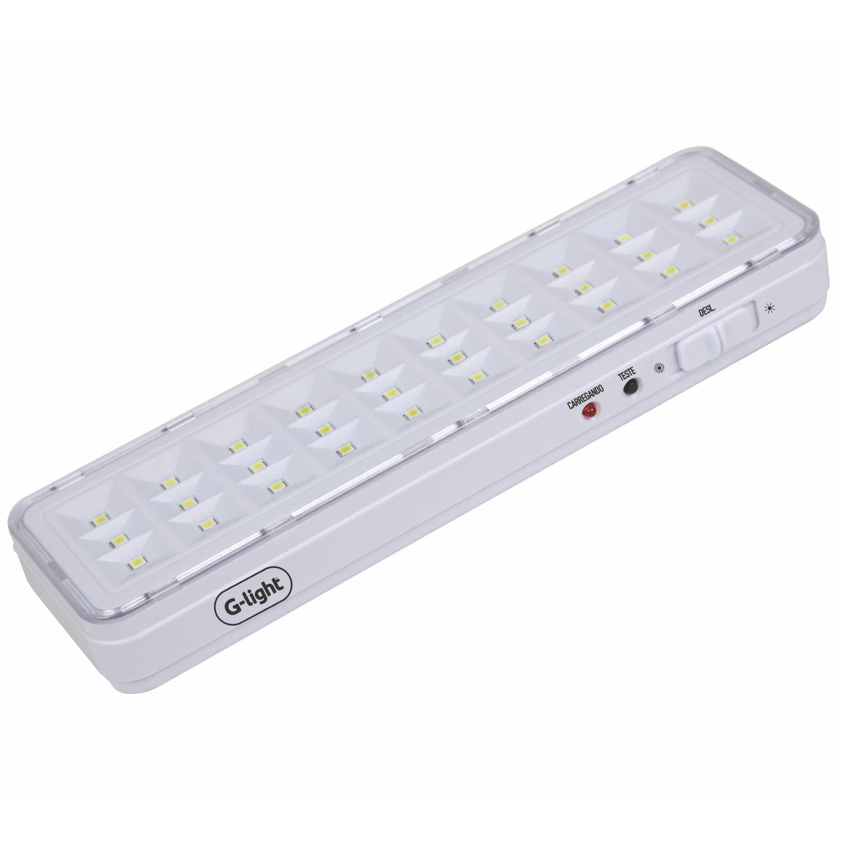 Luminaria de Emergencia 30 LEDs 12W Autovolt - Branco - Glight