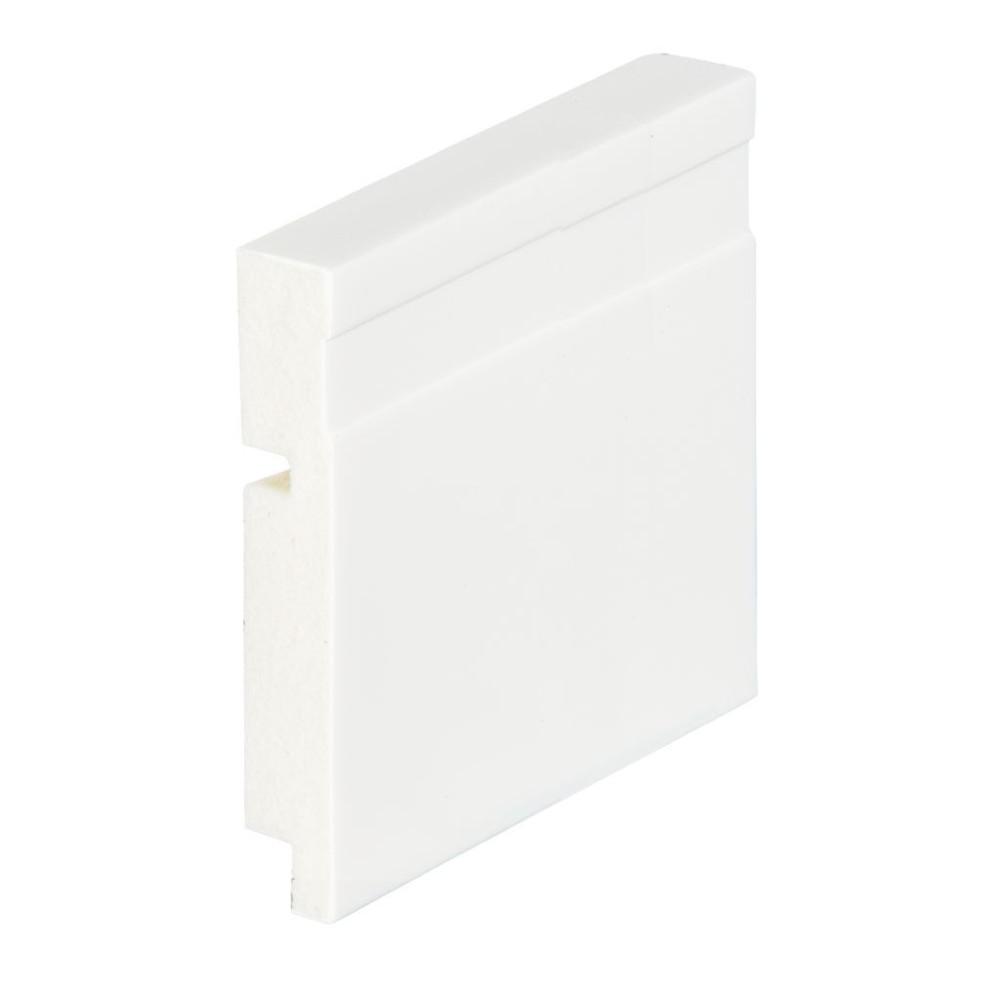 Rodape 10 x 240 cm Poliestireno Branco - 51010 - Arquitech