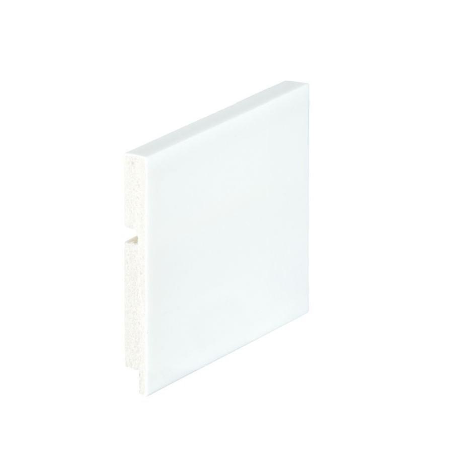 Rodape Liso 10x240cm de Poliestireno Branco - Arquitech