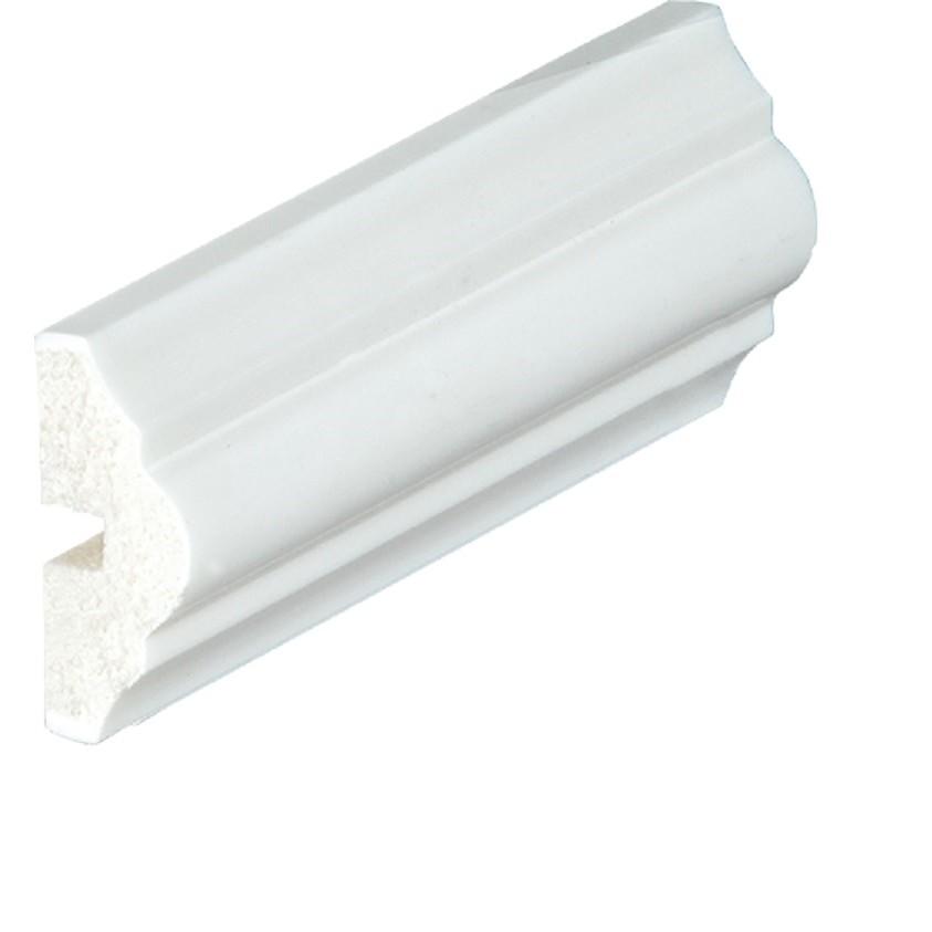 Rodameio 4 x 240 cm Poliestireno Branco - 31004 - Arquitech
