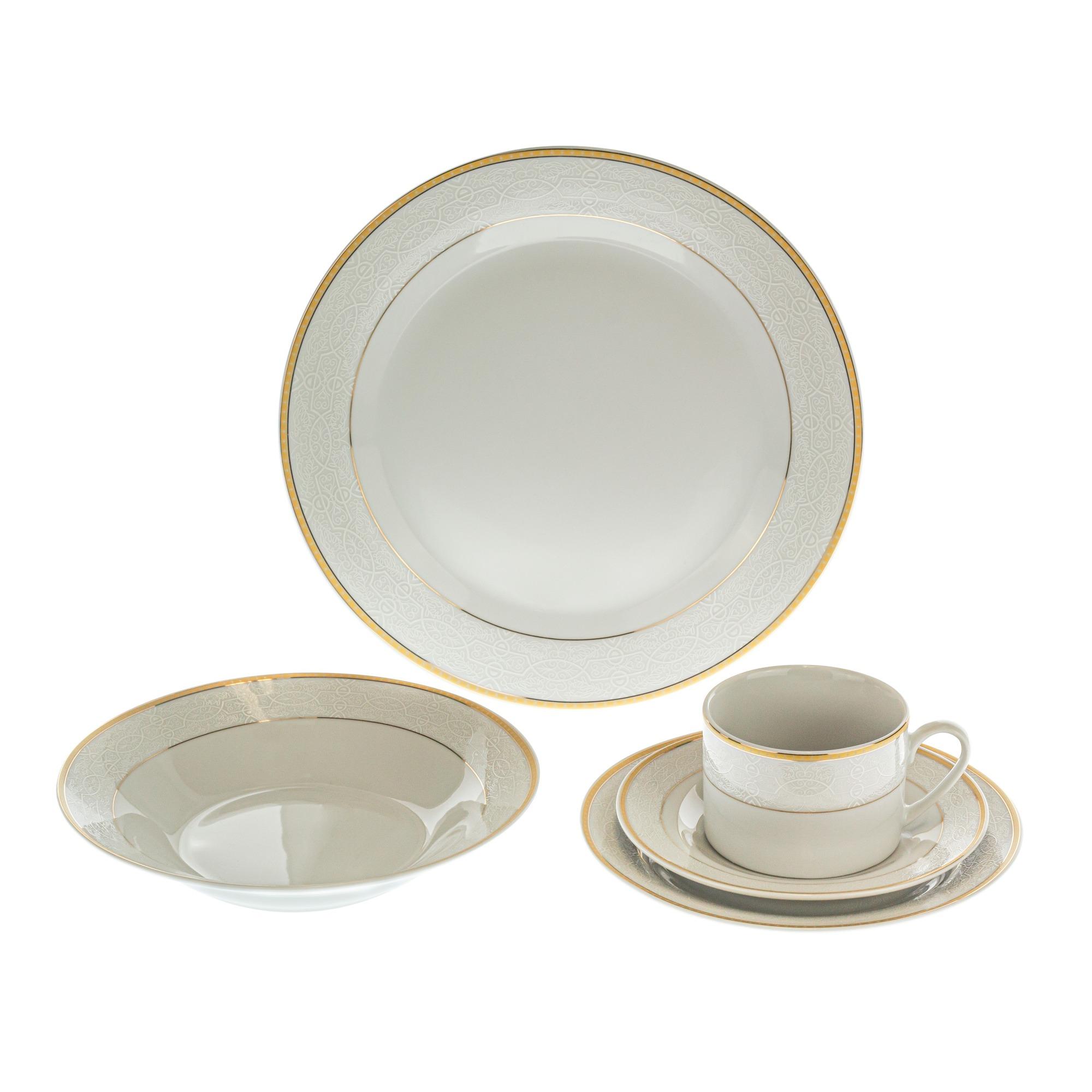 Aparelho de Jantar Tivoli de Porcelana 20 Pecas - 346163 - BianchiniCaixa de 6 jg