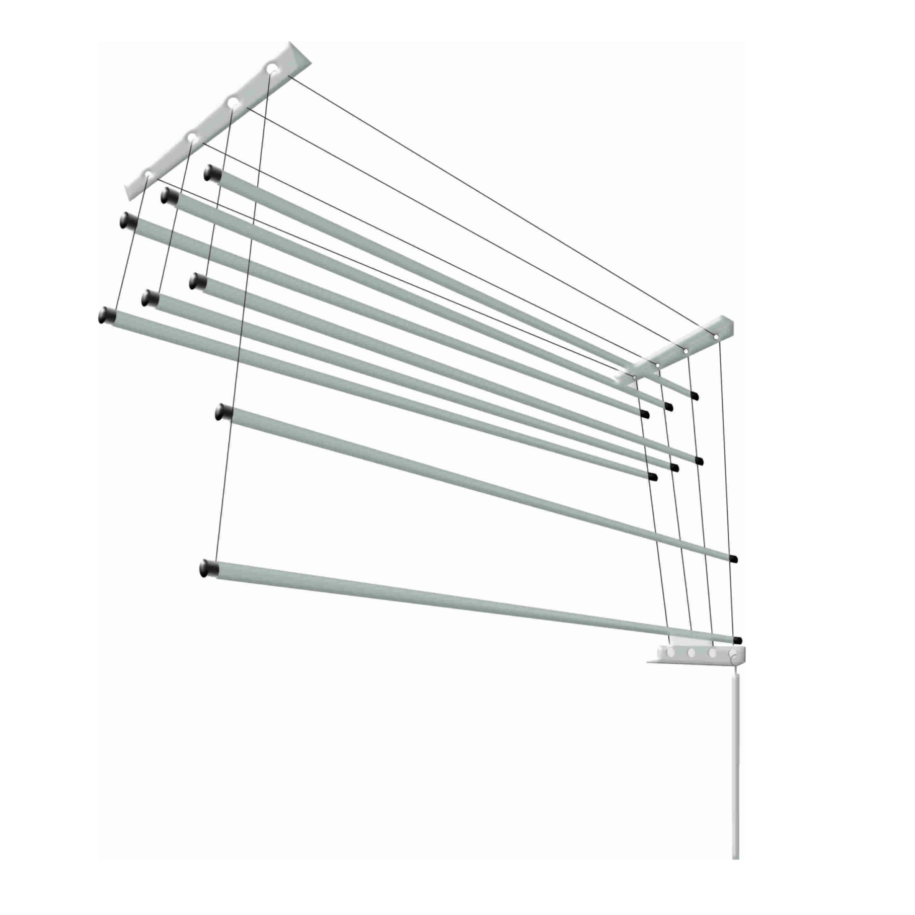 Varal de Teto Individual Duplo Aluminio 56X100cm VID1 - SoVarais