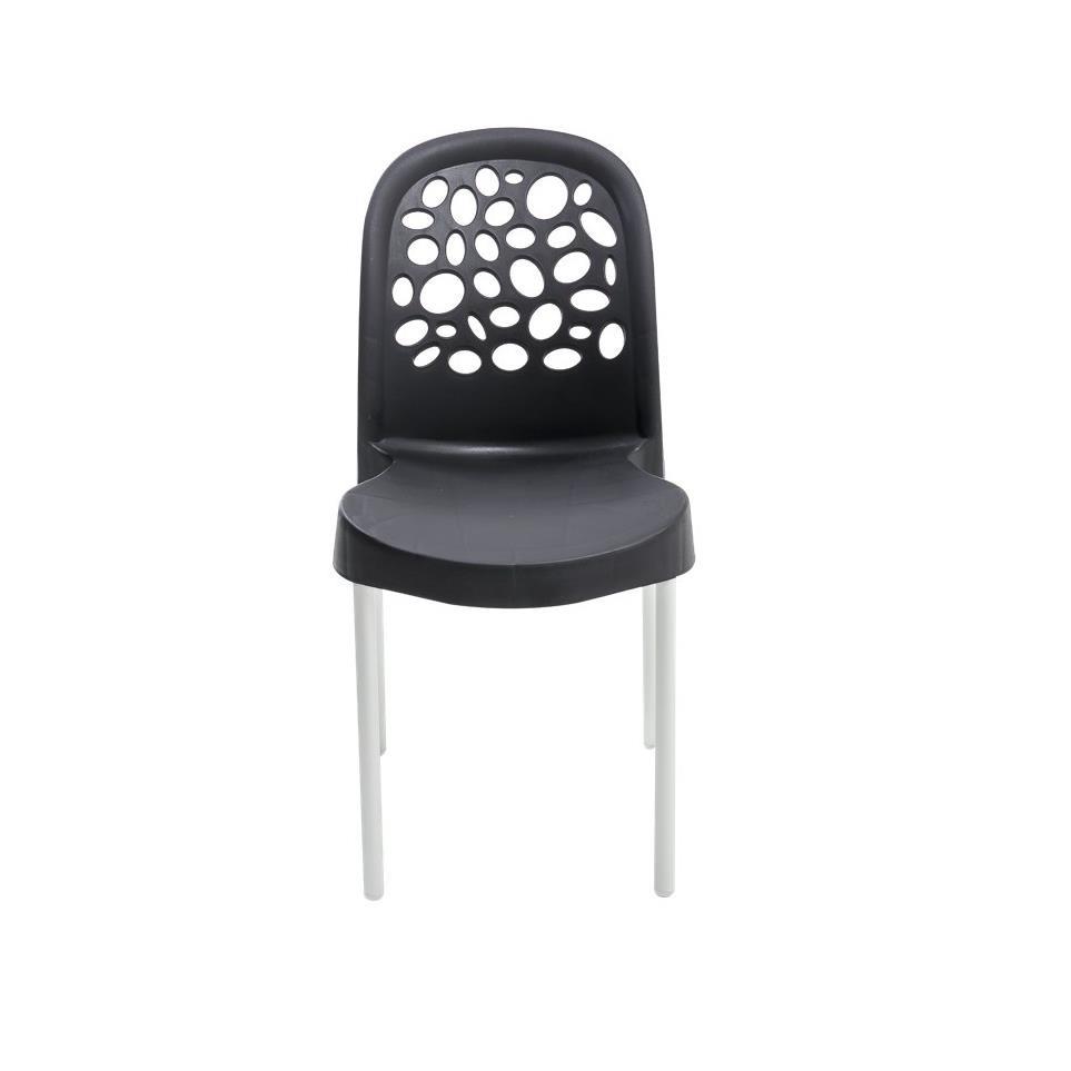 Cadeira Deluxe de Polipropileno Preta - Forte Plastico