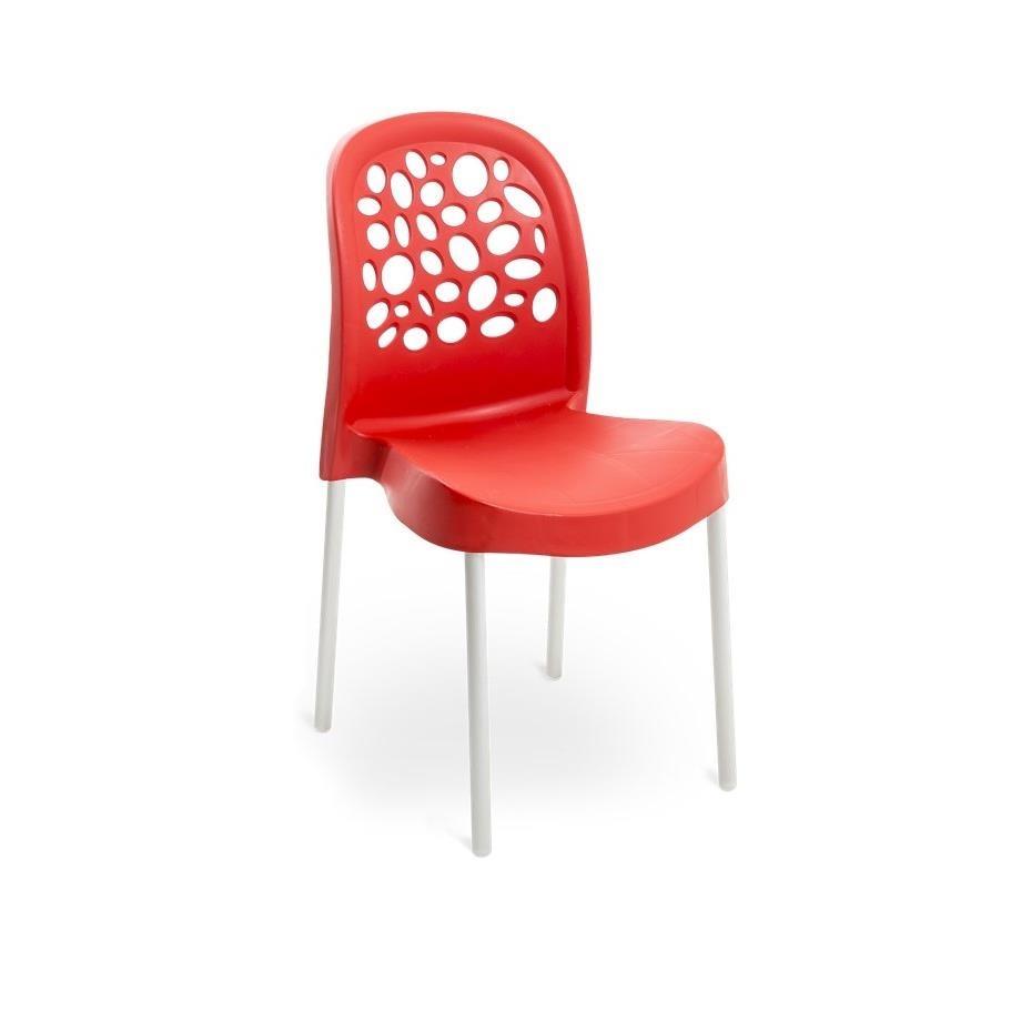 Cadeira Deluxe de Polipropileno Vermelha - Forte Plastico