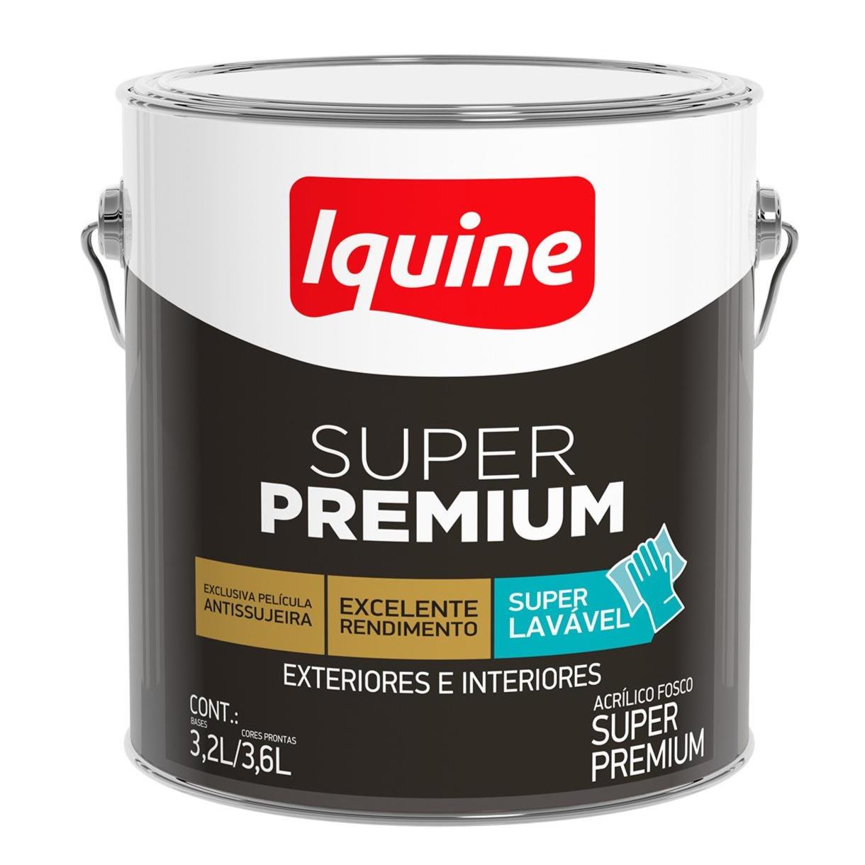 Tinta Acrilica Fosco Premium 36L - Branco Neve - Super Premium Iquine