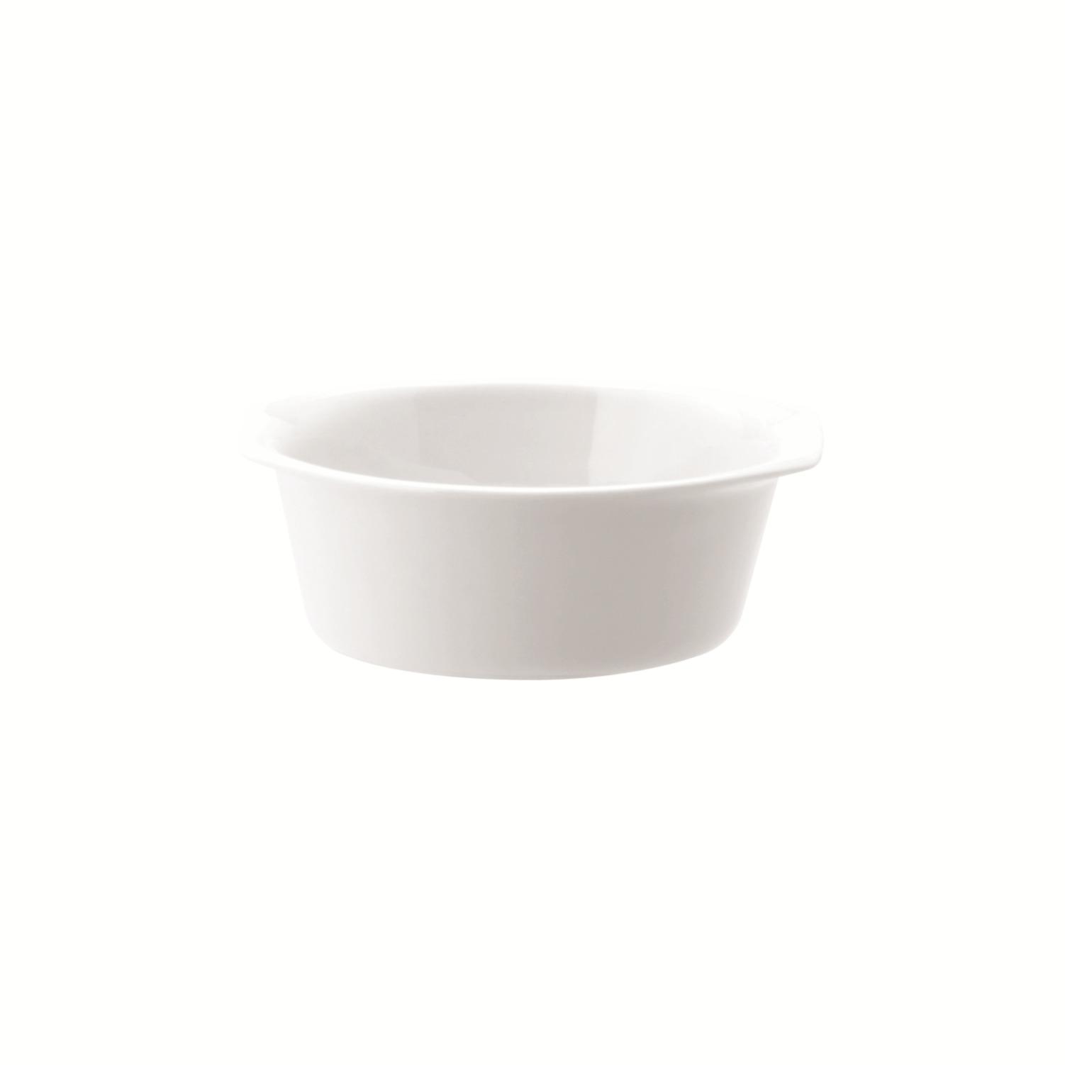 Travessa de Porcelana 16cm Redonda Funda Branca Calorama - Schmidt