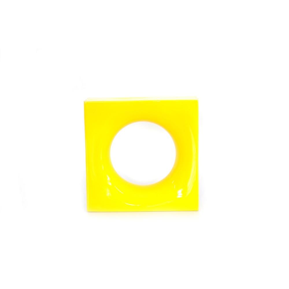 Cobogo Ceramic Esmaltado Vazado 20x20 cm Amarelo - Sphera Elemento V