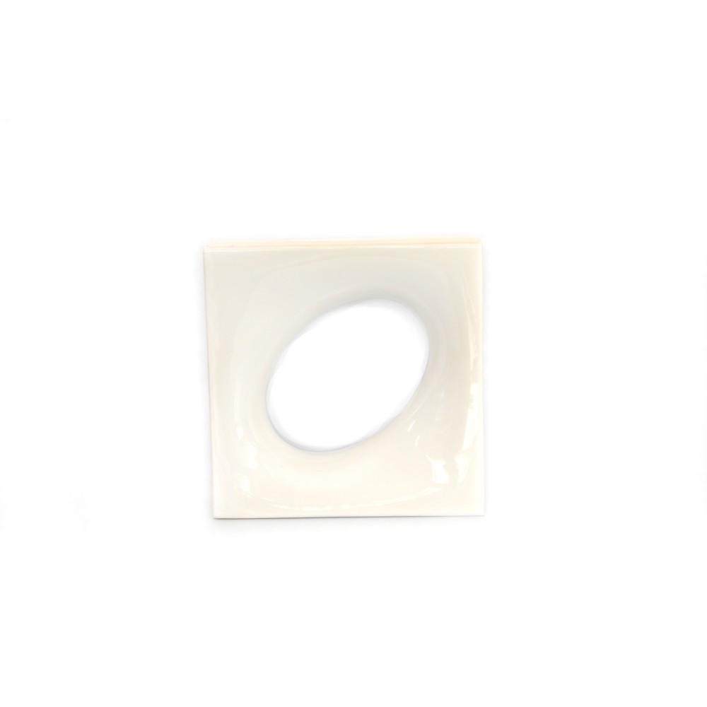 Cobogo Ceramica Esmaltado Vazado 20x20 cm Lunna Branco - Elemento V