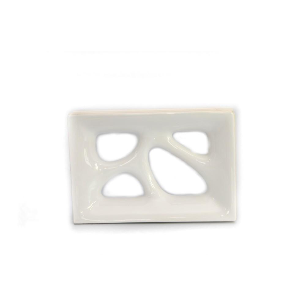 Cobogo Ceramica Esmaltado Vazado 27x185 cm Vintage Branco - Elemento V