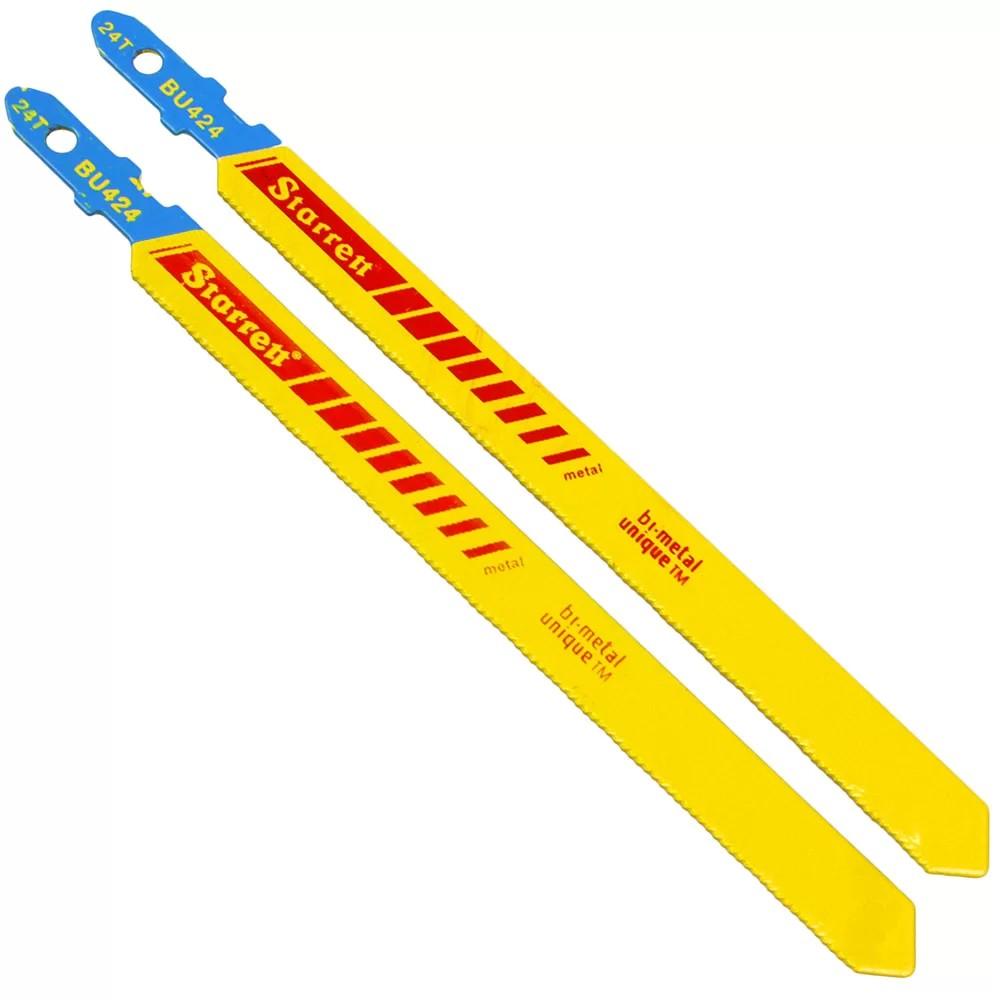 Lamina para Serra Tico-Tico Bimetal 100mm 24 Dentes por Polegada 2 Pecas - Starrett