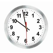 Relógio de Parede Work Alumínio 30 cm Branco 1020 - Relobraz