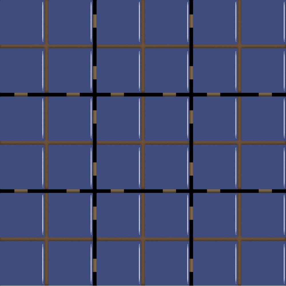 Revestimento Square Safira Mesh Brilhante Tipo A 10x10cm 162m Azul - Eliane